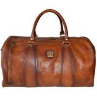 Vegetable Tanned Italian Leather Travel Bag