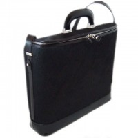 Rafaello Laptop Compatible Large Genuine Italian Leather Briefcase in Horsehide