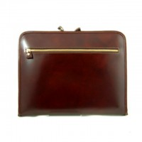 Dante Zippered Portfolio for Notepad in Genuine Italian Leather