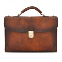 Briefcase Leccio In Cow Leather