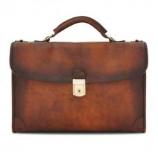 Briefcase Leccio In Cow Leather