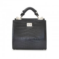 Anna Maria Small Croco-Embossed Italian Leather Handbag