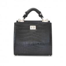 Anna Maria Small Croco-Embossed Italian Leather Handbag