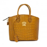 Versilia Small Croco-Embossed Italian Leather Handbag
