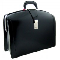 Brunelleschi Laptop Compatible Attorneys Briefcase in Genuine Italian Leather