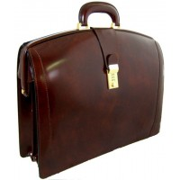 Brunelleschi Lawyers Briefcase in Genuine Italian Leather