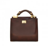 Anna Maria Small Italian Leather Handbag