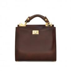 Anna Maria Small Italian Leather Handbag