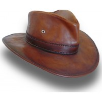 Cagliostro Hat in Genuine Italian Leather (57cm)