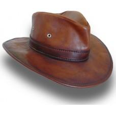 Cagliostro Hat in Genuine Italian Leather (57cm)