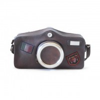 Photocamera Bruce Cross-Body Bag In Cow Leather