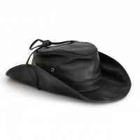 Cagliostro Hat in Genuine Italian Leather (59cm)