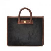 Alberti Small Cavallino Woman Bag in cow leather