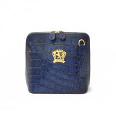 Volterra Croco-Embossed Italian Leather Womans Clutch