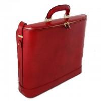 Rafaello Laptop Compatible Genuine Italian Leather Briefcase
