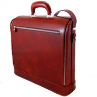 Rafaello Laptop Compatible Large Genuine Italian Leather Briefcase